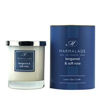 Bergamot and Soft Rose Large Candle